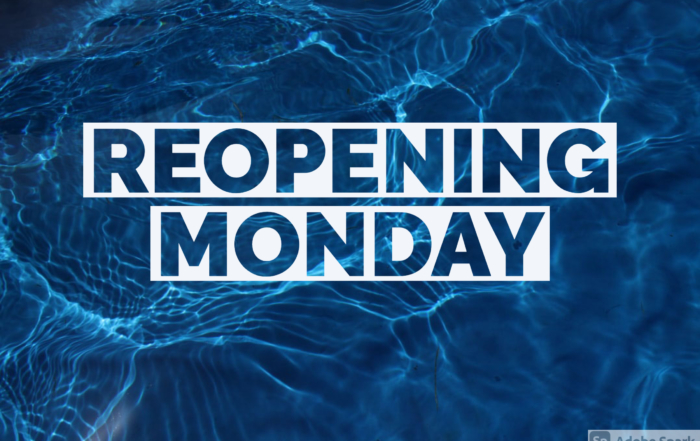 Re-Opening Monday, 9/14/20!