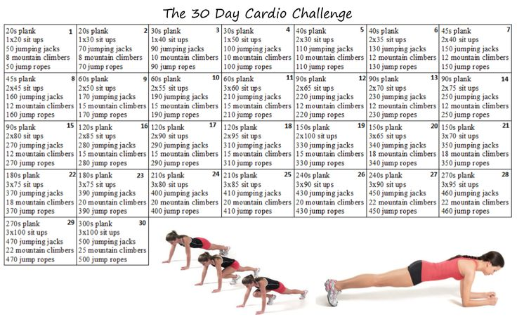 a santé lakeside fitness 30 day 30 minute cardio challenge